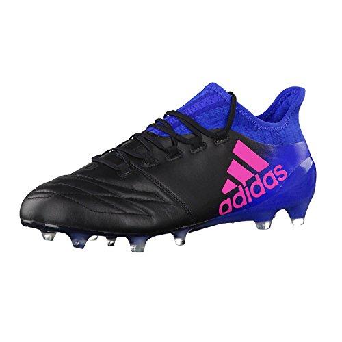 adidas Herren X 16.1 Leather Fg für Fußballtrainingsschuhe, Schwarz (Nero Negbas/Rosimp/Azul), 42 EU
