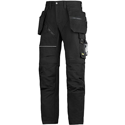 Snickers Workwear 6202 Snickers Hose RuffWork Arbeitshose+, m. HP, schwarz, 54
