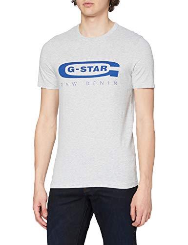 G-STAR RAW Graphic Logo 4 Camiseta, Gris, X-Small...