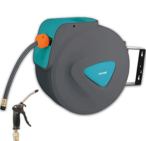 DMS - Avvolgitubo automatico ad aria compressa, con avvolgitubo EU 1/4, supporto da parete, avvolgitubo avvolgitubo ad aria compressa DST (30 metri, blu)