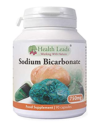 Sodium Bicarbonate 750mg x 90 capsules (100% Additive Free Supplements) by Health Leads UK