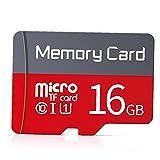 Odoukey Tarjeta Micro SD Tarjeta de Memoria 16G Tarjeta de Memoria Micro de Alta Velocidad con el Adaptador Libre Blanca