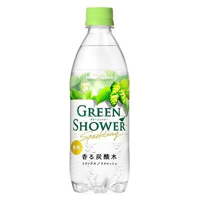 ポッカサッポロ グリーンシャワー 香る炭酸水 500ml 1ケース(24本)