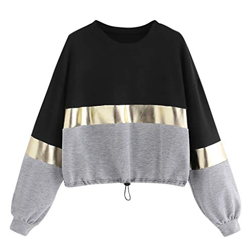 Review Of Baiggooswt Women's Casual Pullovers with Long Sleeves O-Neck Adjustable Hem Stitching Brig...