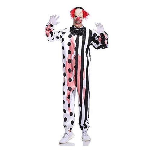 Halloween volwassen Fancy jurk kostuums, kostuums Halloween kinderen Cosplay Halloween partij, volwassen Masquerade kostuum omdat het kwaad Clown jurk Horror bloedige Clown spel pak