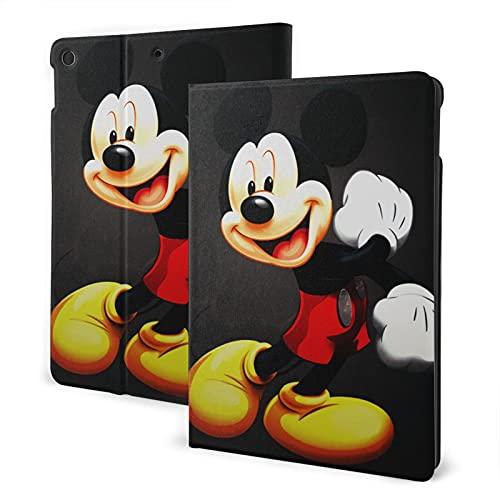 Mickey Mouse y Minnie Mouse Pad 7th 10.2 pulgadas Pad Air3 cubierta Auto Wake/Sleep para Pad Pro 10.5 pulgadas PU cuero Shell Stand Smart Slim.Pad 7th 10.2 pulgadas