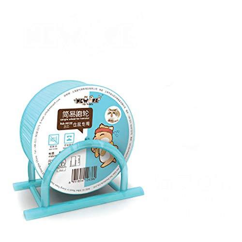 Support simple pour roue de hamster - Rose et bleu - Pour hamster