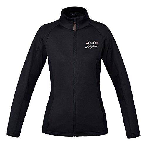 Kingsland Fleecejacke ' UNTERSBERG ' für Damen, Damenjacke Größe M, Farbe black