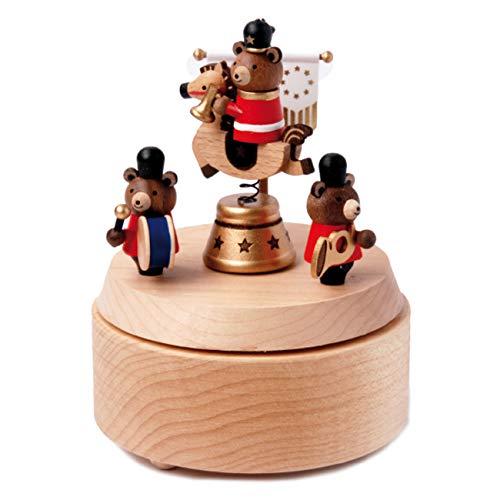 Wooderful life - Boîte à musique en bois artisanal, chevaliers de la table ronde.