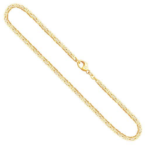 Collana modello Bizantina Uomo in oro giallo,14 carati 585, largh. 2,3 mm, p. 17.8 g, lungh. 50 cm, con chiusura ad aragosta, marchio di garanzia made in Germany