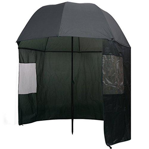 Festnight Paraguas para Pesca - Color de Verde Oscuro, 300x240 cm