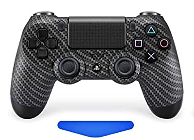 Carbon Ps4 Rapid Fire Custom Modded Controller 40 Mods for All Major Shooter Games, Auto Aim, Quick Scope, Auto Run, Sniper Breath, Jump Shot, Active Reload & More