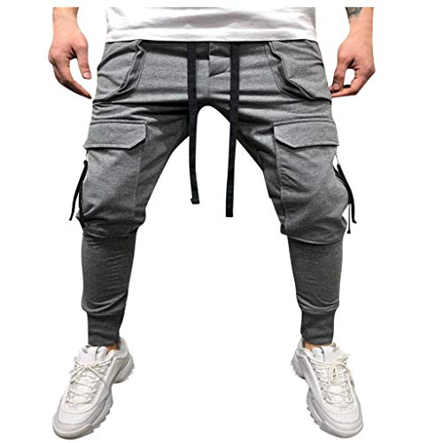 MINIKIMI joggingbroek heren broek Cargo chino jeans stretch jogger sportbroek slim-Fit drawstring sweatbroek fitness trainingsbroek denim jeans met zakken