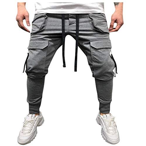 MINIKIMI joggingbroek heren broek Cargo chino jeans stretch jogger sportbroek slim-Fit drawstring sweatbroek fitness trainingsbroek denim jeans met zakken