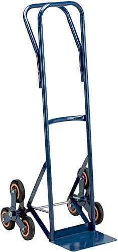 Carrello portapacchi in acciaio per scale sistema rotante a sei ruote portata 120 Kg