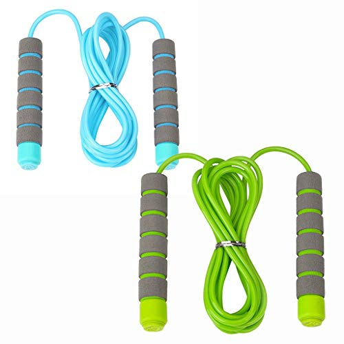 wrasf 2020 New 2PCS Jump Rope for Adult Kids Child Adjustable Soft Skipping Rope with Skin-Friendly Foam Handles Beginners Portable Sale Workout at Home Best Jump Rope Cardio Weight Loss Best Gift