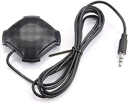 Fantasyworld Microfono omnidirezionale Pickup con Microfono da 3,5 mm con Jack Audio a condensatore per Skype VOIP Call Voice Chat - Nero - Trova i prezzi più bassi