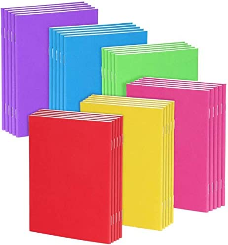 Pralb 30Pack Colorful Blank Notebooks Mini Plain Travel Journals Books For Kids Students Diaries product image