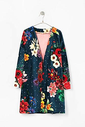 Desigual Bathrobe Dark Floral, algodón, June Bug, 150x 95x 0,5cm