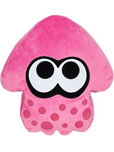 Sanei Splatoon Squid Stuffed Cushion Plush, 14, Pink by Sanei