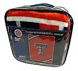 Northwest University of Texas Tech TT Red Raiders 60x80 inch Raschel Plush Throw Blanket