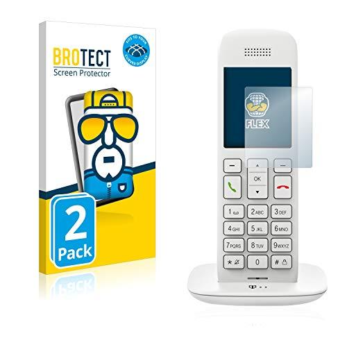 BROTECT Full-Cover Schutzfolie kompatibel mit Telekom Speedphone 11 (2 Stück) - Full-Screen Displayschutz-Folie, 3D Curved, Kristall-Klar