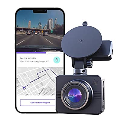 Nexar Beam GPS - Full HD 1080p Dash Cam, 2021 Model. SD Card Included and Unlimited Cloud Storage
