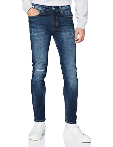 Calvin Klein Ckj 016 Skinny Pantalones, Bb208/Dark Blue Destr, 33W / 30L para Hombre