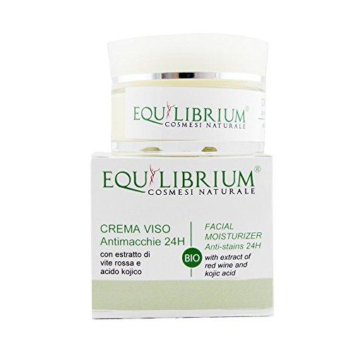 EQUILIBRIUM - COSMESI NATURALE Crema viso antimacchie 24H 50 ml BIO con Estratto di Vite Rossa e Acido Kojico
