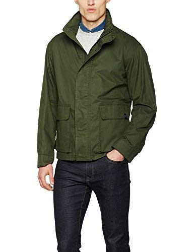 Gloverall Concealed Hood Jacket Cappotto, Verde (Khaki Green), Medium Uomo