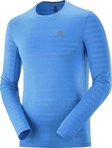Salomon, T-Shirt de Sport à Manches Longues pour Homme, XA LS TEE, Polyester/Elasthanne, Bleu (Blithe), Taille : M, LC1276400