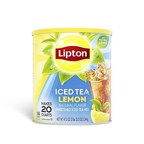 Lipton Iced Tea - Natural Lemon - Makes 20 Quarts - Net weight 47.2oz (2lbs...