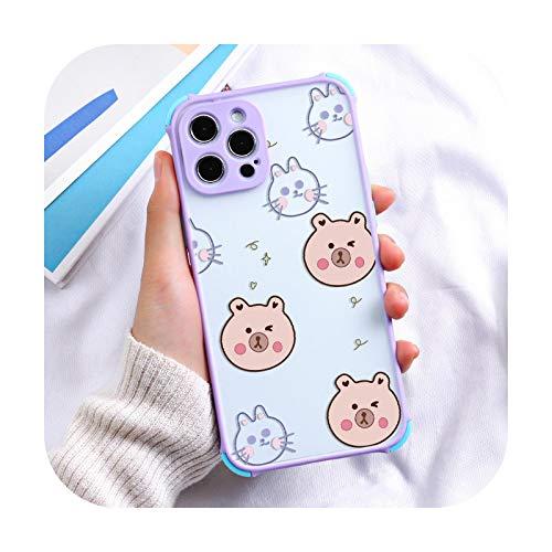 Fundas de teléfono para iPhone 11 caso iphone 12 Pro Max carcasa para iPhone 11 12 7 8 6S 6 XS S XR cubierta de teléfono a prueba de polvo TPU parachoques -O131-para 7 Plus 8 Plus
