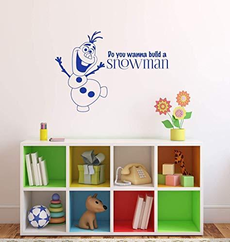 Muurstickers Wil je een Snowman Vinyl Decor Sticker bouwen voor Jongens of Meisjes Slaapkamer Baby Kwekerij Kleuterschool