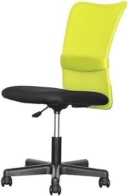 オフィスコム オフィスチェア パソコンチェア メッシュ 腰当て付き ひじ無し グリーン チャットチェア