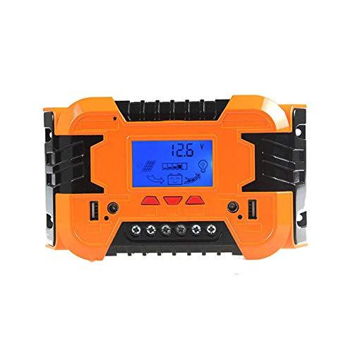 PSOIHGTFS Solar-Laderegler, Dual USB Port Sonnenkollektor-Batterie Intelligent, einstellbare LCD Display Straßenlaterne Controller-12V / 24V 10A-60A PWM,Ms1024