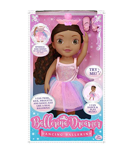 Ballerina Dreamer Dancing 18 inch Doll with Brown Hair