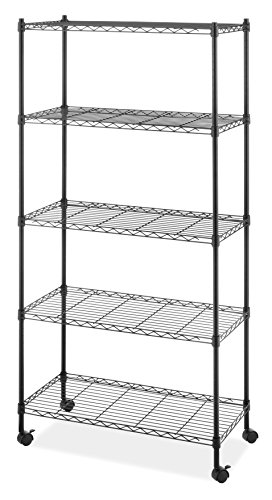Whitmor Supreme 5-Tier Cart holds up to 1,000 lbs. Black
