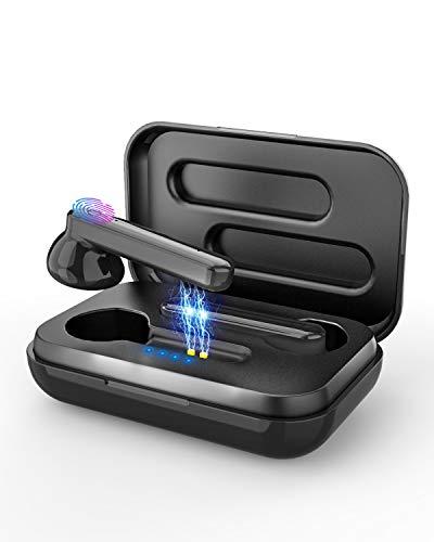 Cuffie Bluetooth Senza Fili,OVIFM Auricolare Bluetooth 5.1 True Wireless con Microfono,Controllo Touch,Bassi Potenziati,Custodia di Ricarica per Samsung, iPhone, Huawei
