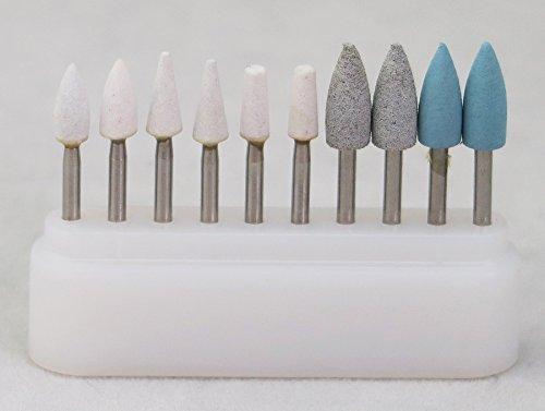 6pcs Stone FG+4pcs Silicone FG Burs Composite Polishing Kit for High speed