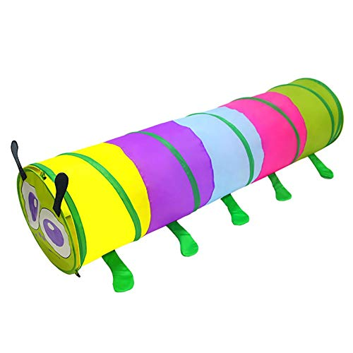ionlyou Kids Crawling Tunnel Toys Children Outdoor Indoor Toy Tube Pop Up Caterpillar Creeping Tunnel Baby Play Crawling Games Access To The Tent