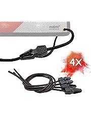 MAGMA Pack 4 Tensores Elásticos | Pulpos Transporte para Sujetar Placa V20, Portabicicletas, Ojales, Toldos, Lonas, Piscina, Acampada | Cuerdas Elásticas de Longitud Ajustable. (L= 50 cm)