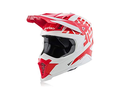 Acerbis casco impact x-racer vtr rosso/bianco l