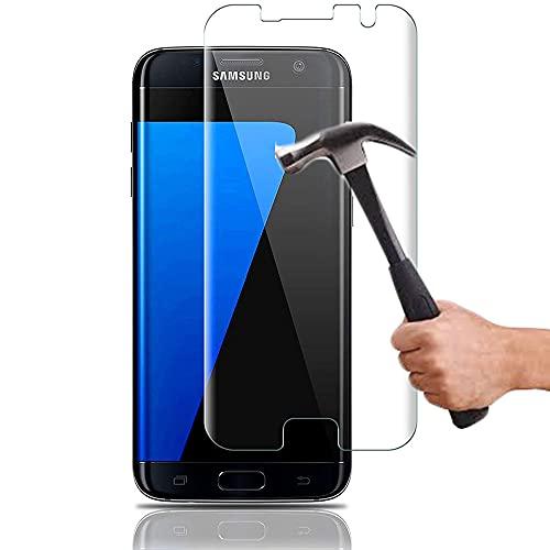 Lapinette Vetro Temperato Compatibile con Samsung Galaxy S7 Edge - 2 Pezzi - Pellicola Protettiva Vetro Temperato - Protezione Vetro Temperato - 9H Force Glass - Protezione Schermo Ultra Resistente