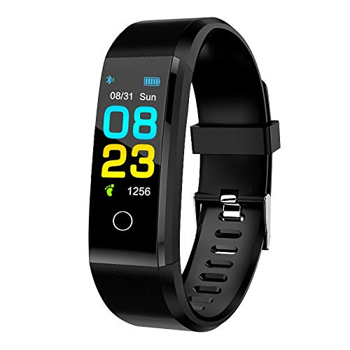 Smart Watch,GPS Waterproof Screen Fitness Watch,with Heart Rate Monitor,Pedometer,Sleep Monitor,Silent Alarm Clock,Super Battery Life,Slim Smart Bracelet