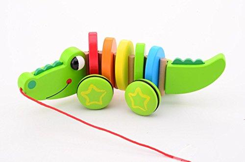 Jouéco Jouet à Tirer Crocodile de Bois, 80053