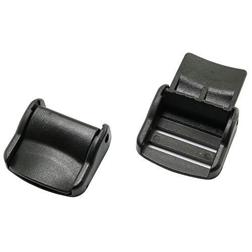 Tegg Cam Lock Lever Plastic Buckles 10PCS 1 Inch Plastic Cam Lever Flap Fix Lock Buckles for Webbing Straps
