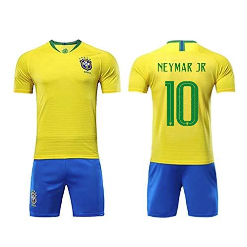 QQLONG Ropa Deportiva de fútbol Neymar da Silva Santos Júnior, 10 Equipo Nacional de fútbol de Brasil fútbol Local Traje de visitante Aficionados Camiseta Deportiva Camiseta