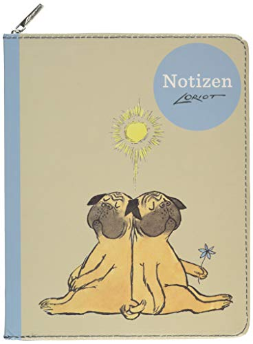 Loriot - Notizbuch Mops: notizbuch;notizen;to ... ;beschriften;karikatur;reinschreiben;tagebuch