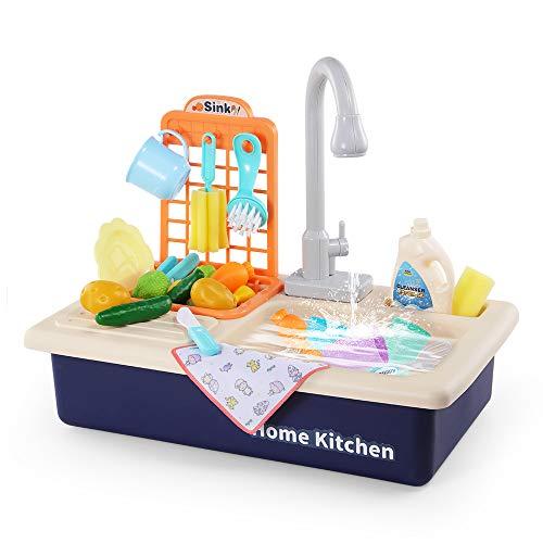 Temi Kitchen Sink Toy Pretend Food - Wash Up...
